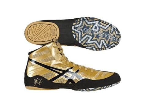 gold boxing shoes asics olympic jb elite boxing boots gold black