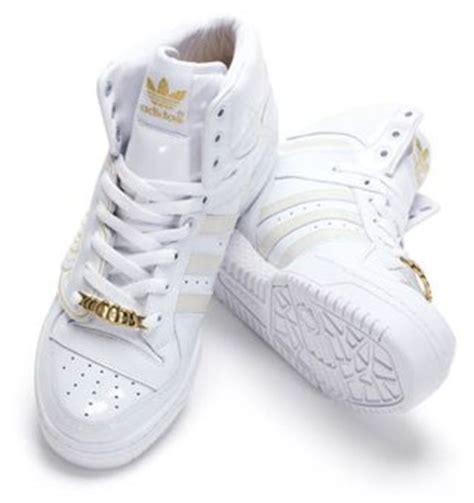 white and gold white and gold adidas shoes