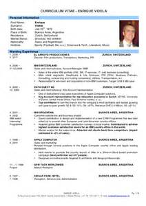 Curriculum Vitae Latest Format by Cv Enrique Videla 2011 Eng