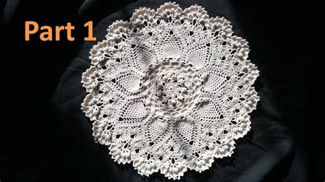 advanced pineapple cluster stitch doily crochet tutorial