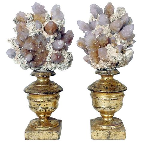 decorative objects a naturalia mineral specimen a pair of amethysts druzes