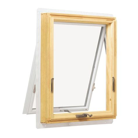 anderson awning window andersen 35 938 in x 24 125 in 400 series awning wood window with white exterior a31