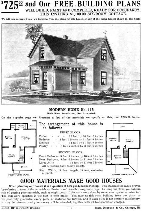 Sears Homes 1908 1940 Sears And Roebuck House Plans