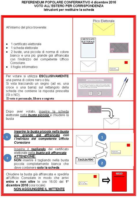 consolato italiano lugano orari referendum costituzionale 4 dicembre 2016 istruzioni per