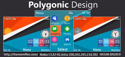 live themes nokia 200 polygonic design live theme for nokia c3 00 x2 01 asha