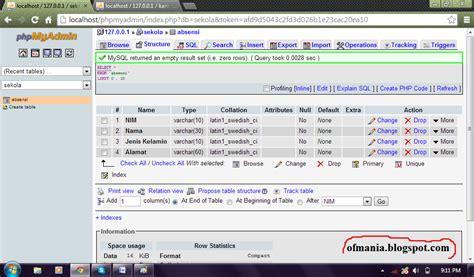 membuat database user dengan xp 5 cara membuat database dengan xampp ofmania