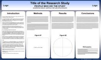 Scientific Poster Templates by Free Powerpoint Scientific Research Poster Templates For