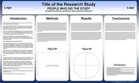 Poster Template free powerpoint scientific research poster templates for