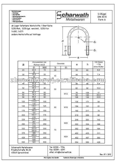Ring Per M12 Stainless Berkualitas U Type Bolt Stainless Steel 304 316 U Bolt Din3570 Carbon