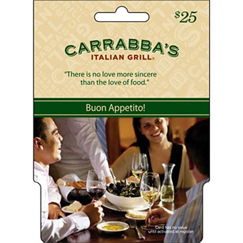 Carrabbas Gift Card - carrabba s italian grill gift card entertainment dining gifts food shop the