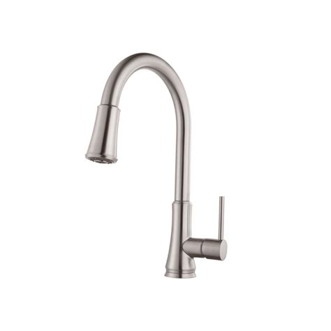 pull kitchen faucets stainless steel pfister pfirst series single handle pull sprayer kitchen faucet in stainless steel g529