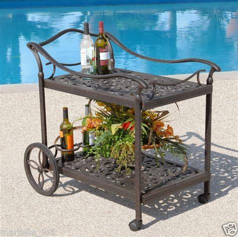 patio serving carts on wheels floral pattern tea cart trolley server durable aluminum