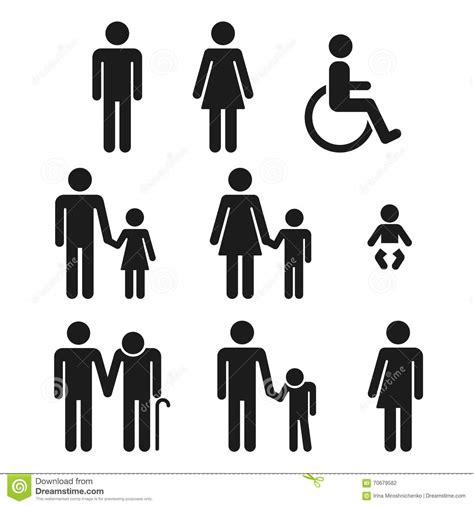 bathroom people men and women symbol stock image male models picture