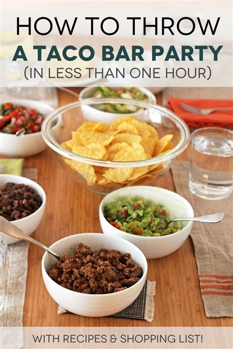 Nacho Bar Toppings List by 25 Best Ideas About Taco Bar Menu On