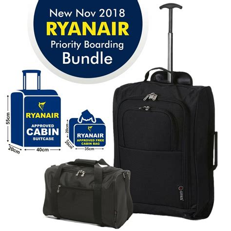 cabin baggage ryanair ryanair cabin approved fits 55x40x20 2nd 35x20x20