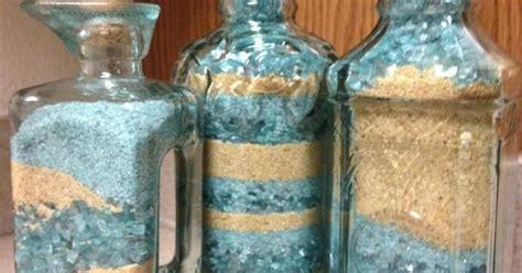 adult sand art  bought decorative glasses  pier