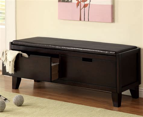modern bench with storage storage bench dark walnut modern indoor benches by