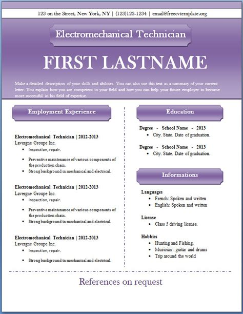 %name unique resume templates free   25 Superb Resume Templates