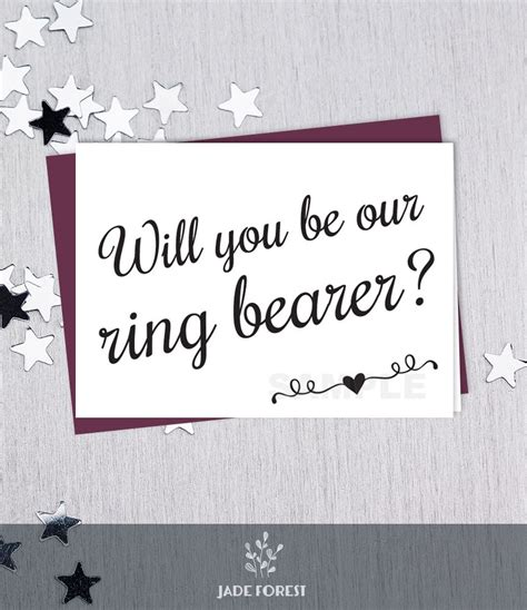 Ring Bearer Card Template by Be Our Ring Bearer Will You Wedding Card Diy