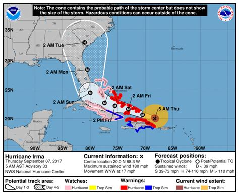 hurricane irma hit date caribbean and florida cargo operations hit by hurricane