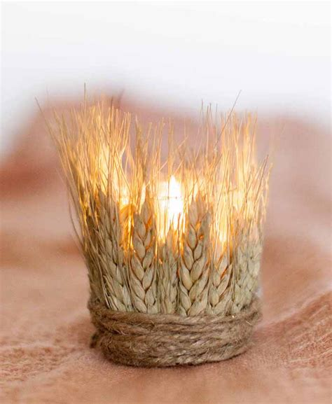 diy dyed wheat tea lights design sponge