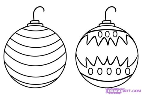 how to draw christmas ornaments step by step christmas
