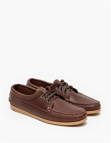 quoddy shoes quoddy chieftan light bean blucher in brown for lyst