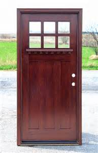 Cheap Wood Front Doors Exterior Door With Glass