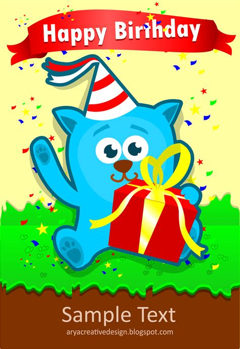 clipart card birthday template