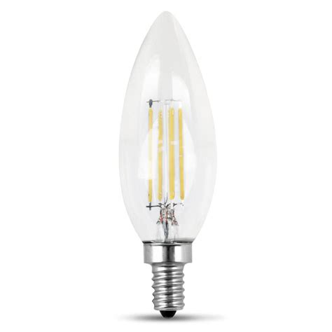 Feit Electric 60 Watt Equivalent Daylight B10 Dimmable Dimmable Led Light Bulbs Candelabra Base