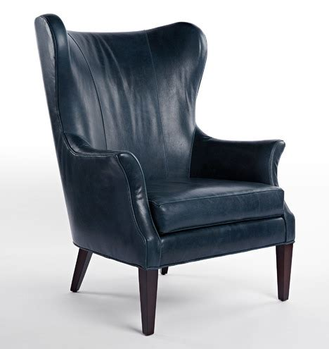 clinton modern wingback chair rejuvenation clinton modern wingback leather chair rejuvenation