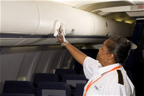 Aircraft Cabin Cleaning Description by Cleaner Aircraft Cabins Ensure Passenger Retention