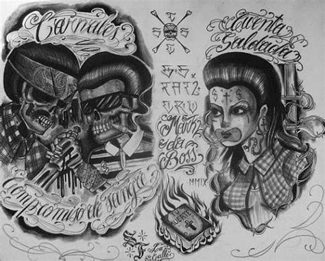 cholo tattoos bernard vargas si de dibujos cholos se trata