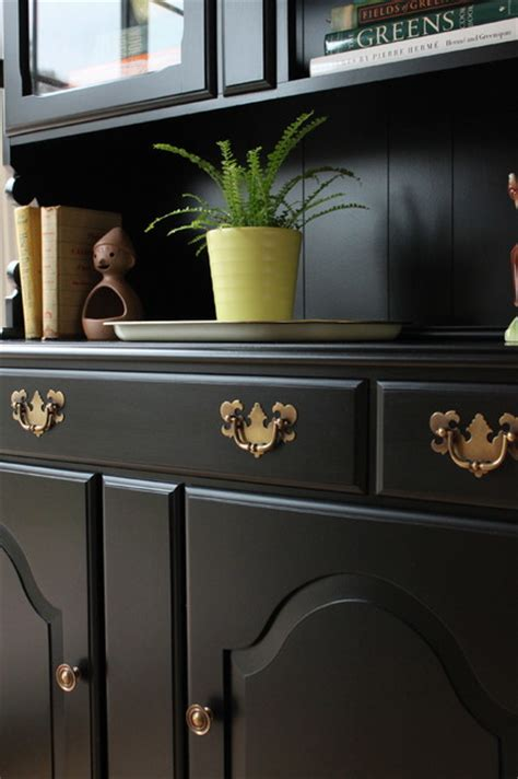 painted dining room hutch black painted dining room hutch eclectic san francisco