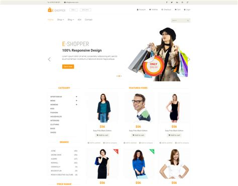 best free ecommerce 25 best html ecommerce website templates free premium