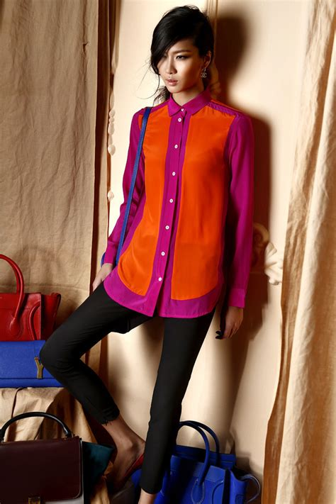 Supplier Realpict Lovely Blouse By Alijaya aliexpress buy 2014 color block blouses chiffon blouse sleeves shirt