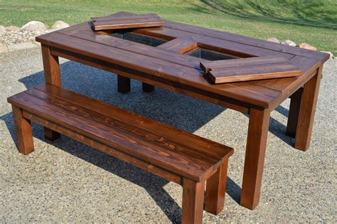 Build Patio Table by Remodelaholic Building Plans Patio Table With Built In