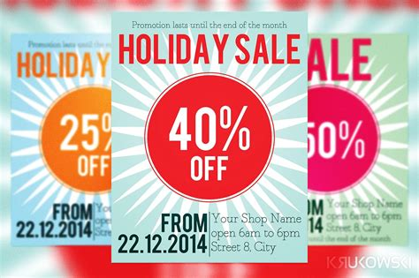 holiday sale flyer flyer templates creative market