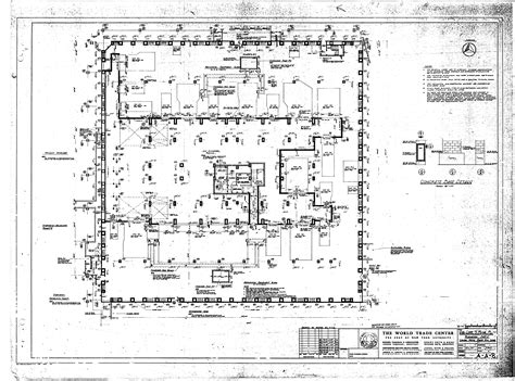 world trade center floor plan north tower blueprints