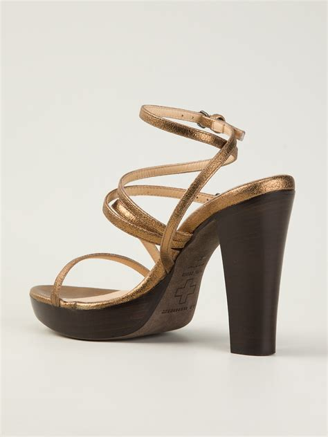 strappy sandals a f vandevorst 141x3060 strappy sandals in gold metallic