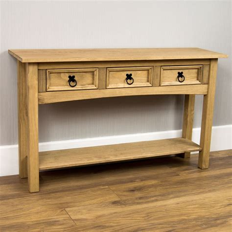 console table with drawers and shelves corona 1 2 3 drawer console table with shelf hallway end pine by home discount ebay