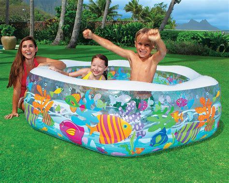 New Kolam Intex Swim Cwnter Family plastic baby pool intex swim center reef
