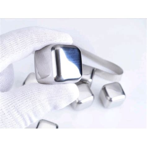 Ac Es Batu reusable stainless steel cube 6pcs es batu stainless