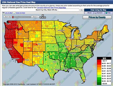 gas price map usa regional variation in gasoline and electricity prices in