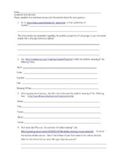 Teaching Symbolism In Literature Worksheets by Symbolism Worksheets Worksheets For School Getadating