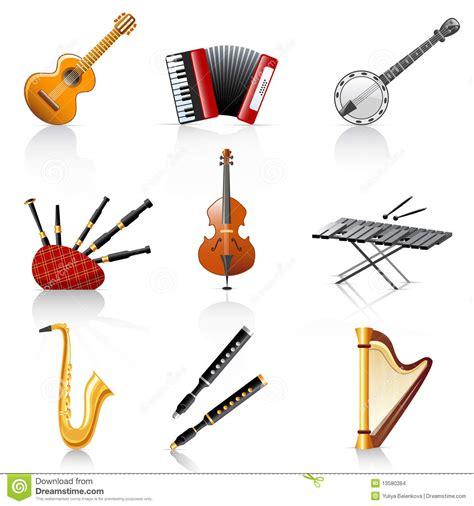 imagenes de instrumentos musicales zoña instrumenty muzykalni ilustracja wektor obraz złożonej z