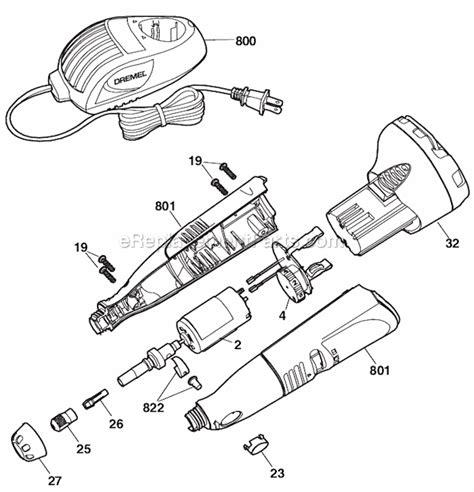 dremel parts diagram dremel 800 parts list and diagram ereplacementparts