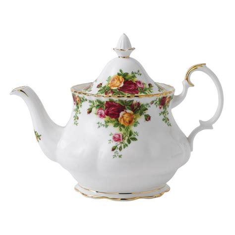 A Pot Of Tea royal albert country roses large teapot royal albert 174 uk