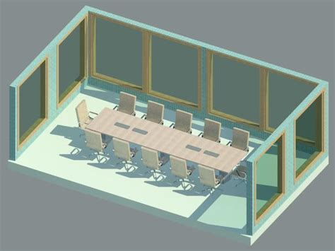 Revit Conference Table Revit Conference Table Conference Table With Chairs Revit Family Cadblocksfree Cad Blocks Free