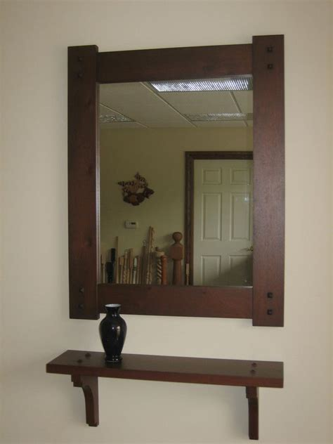 wooden bathroom mirror with shelf 9 best images about wood frames classic woodworks on